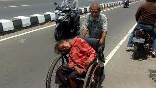 Viral Kakek 71 Tahun Jalan Jauh Dorong Kursi Roda, Antar Terapi Istri yang 14 Tahun Sakit Ginjal