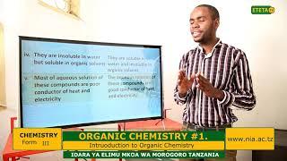 CHEMISTRY _ F_ IV_ORGANIC CHEMISTRY _ #1_ Introduction to Organic Chemistry