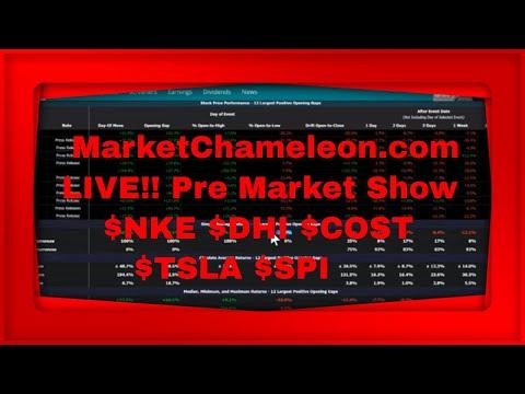 YouTube Live Pre Market Show We Discuss $NKE $DHI $COST $TSLA $SPI