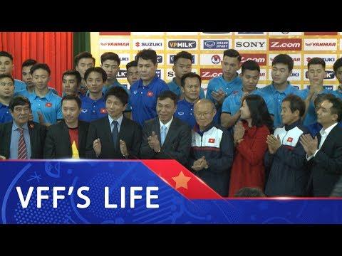 Lãnh đạo VFF gặp gỡ báo chí và trao đổi thông tin kết quả thi đấu tại VCK U23 Châu Á 2018