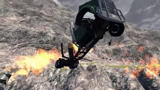 Машинки разбиваются! Мультик 3D про аварии столкновения Ломаем тачки Игры для мальчиков BeamNg.Drive