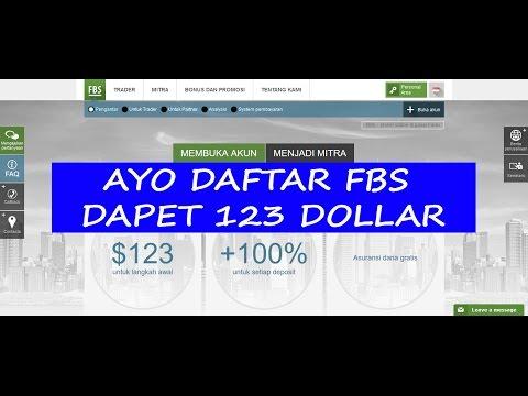 Video Daftar FBS Dapet 123 Dollar (FBS - Broker Online di Pasar Forex)
