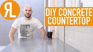 How To Make A Concrete Countertop, It's Easier Than You Think