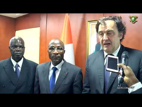 Audience du MEF SUCAF CI présente son plan de développement au Ministre Adama Koné