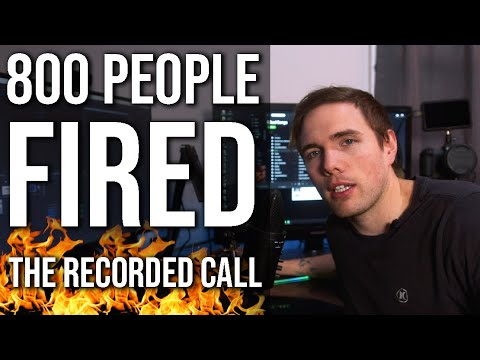 A Recording of 800 People Being Fired (Game Dev is a disaster )