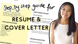 Everything You Need To Know For A Killer Resume And Cover Letter
