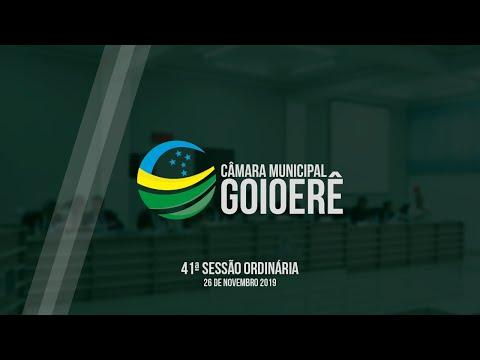 41ª Sessão Ordinária - 2019