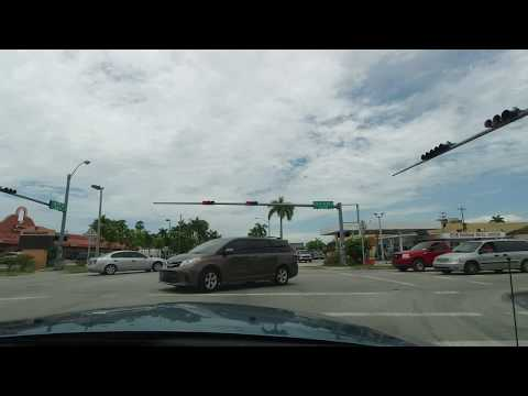 Drive South Thru Downtown Homestead Krome Ave. Driving & Jamming