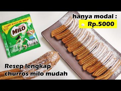 HANYA MODAL Rp.5000 BISA BUAT CHURROS MILO ENAK - RESEP MUDAH