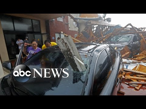 Hurricane Michael rips roofs off buildings as it strikes Florida  HD Mp4 3GP Video and MP3