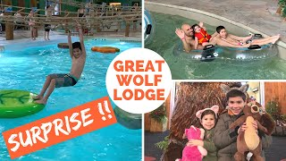 SURPRISE Family Vacation at Great Wolf Lodge - Indoor Water Park