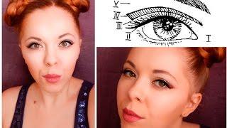 Классическая горизонтальная техника макияжа.  Учись вместе со мной :)