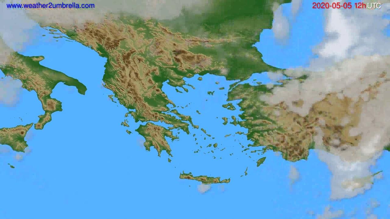 Cloud forecast Greece // modelrun: 00h UTC 2020-05-05
