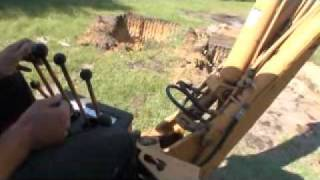 how to dig with a case 580 super e backhoe
