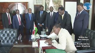 President Uhuru signs division of revenue bill