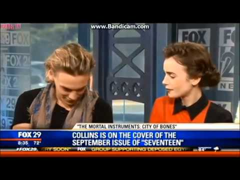 Compilation of funny and cute interview of Jamie Campbell Bower