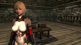 SKYRIM SPECIAL EDITION MODS KASUMI'S RED AND WHITE NINJA SUIT