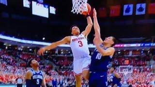 DJ Carton poster DUNK and STARE DOWN // Ohio State vs. Villanova Basketball Highlights