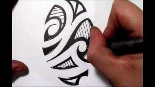 Sketching A Maori Tribal Picture - Quick Sketch