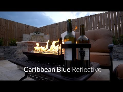 Caribbean Blue Reflective Fire Glass | Lakeview Outdoor Designs