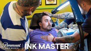 Color Realistic Battle Scene: Elimination Tattoo | Ink Master: Shop Wars (Season 9)