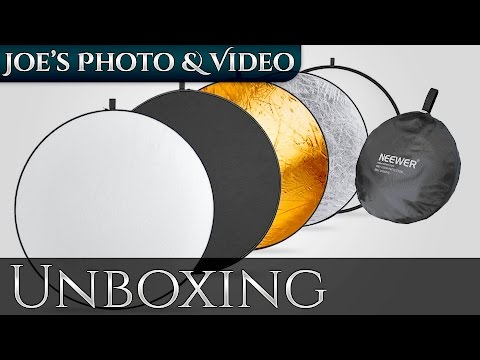 Neewer 43 Inch (110cm) 5-In-1 Collapsible Multi-Disc Reflector | Unboxing