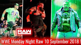 WWE Monday Night Raw 10 September 2018 Highlights ! The Shield Vs Braun Strowman ! Raw 9/10/18