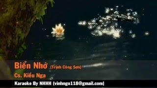 Karaoke Biển Nhớ - Kiều Nga (Trịnh Công Sơn) Beat