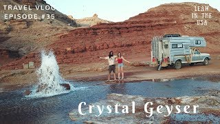 The eruption of Crystal Geyser - Green River - Utah  LeAw in the USA //Ep.35