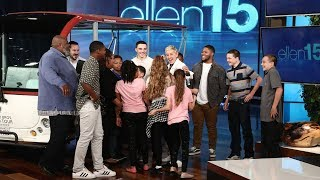 Ellen Surprises The Amazing Sanders Family