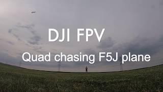 DJI FPV QUAD CHASING RC PLANE