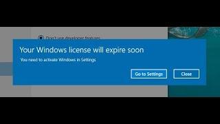 your windows license will expire soon windows 10 problem