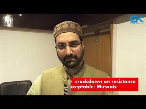 Arrests of Kashmiri youth, crackdown on resistance camp ahead of polls unacceptable: Mirwaiz