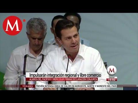 ´Alianza del Pacífico y Mercosur impulsarán libre comercio´ EPN