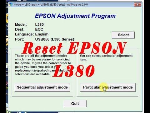 Epson L380 Rersetter   Adjustment Program Free   epson l380