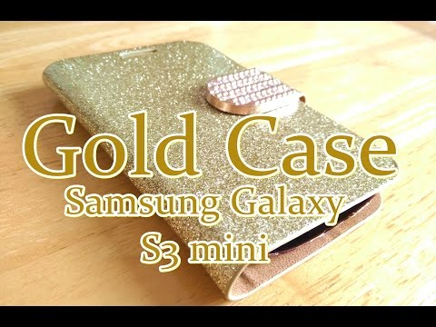 Aliexpress Luxury Gold Cover Case for Samsung Galaxy i8190 S3 Mini Case Wallet Stand