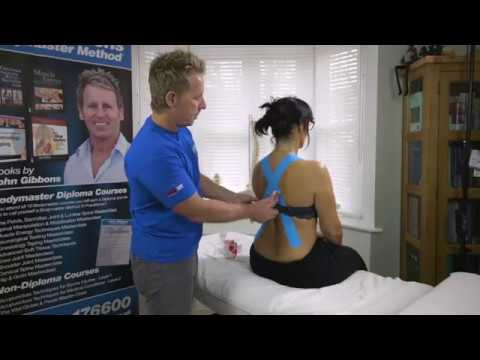 Try this Kinesiology Taping technique for poor posture - its ...