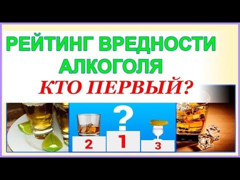Самые вредные алкогольные напитки  Кто первый? Рейтинг.