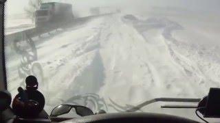 Зима. Трасса М4 ДОН. Русская зима.