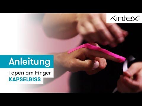 Kintex® Anleitung zum Kinesiologie Tapen am Finger (Kapselriss)