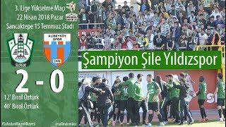 Şile Yıldızspor 3. Lige yükseldi (Şile Yıldızspor 2-0 Alibeyköyspor)