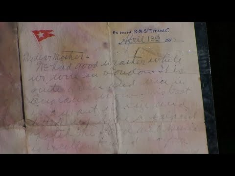 Titanic victim's letter sells for record $166,000