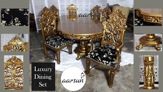 #24 Luxury Dining Set Latest Furniture Collection Unmatched Prices Buy Online @aarsunwoods.com