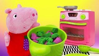 Игрушки Пеппа. Сборник мультфильмов для детей. Свинка - кулинар
