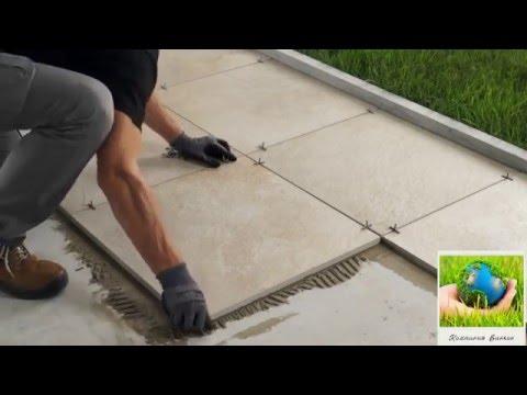 Укладка толстого 2см керамогранита на бетонное основание