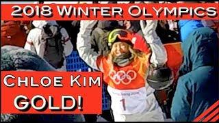 ChloeKim-2018WinterOlympicsPyeongchangWomensSnowboardingGOLD!@AmyMoncure