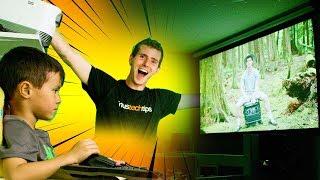 DIY Projector Screen & Home Theater Setup!