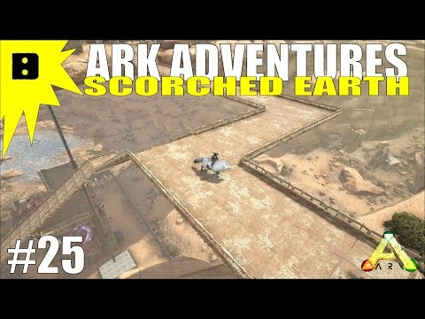 ARK Scorched Earth Adventures #25 - Floating Mega Ramps with Structures Plus!