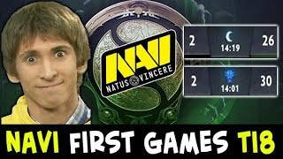 NaVi on The International 2018 — FIRST games