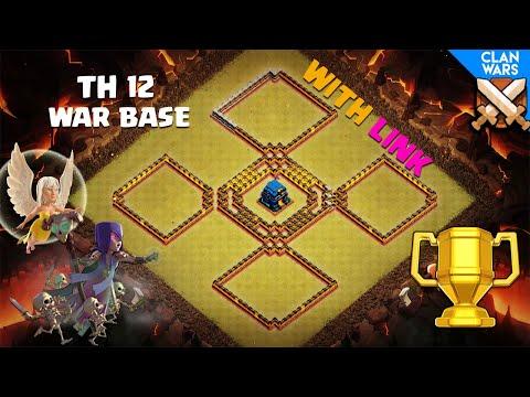 NEW TH12 WAR BASE Layout TH12 Clan War League War Base 2018